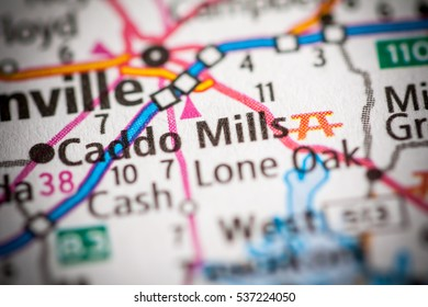 Caddo Mills Texas USA On Map Stock Photo (Edit Now