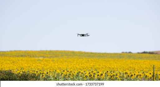 Cadiz, Puerto Real - May 14th, 2020: Drone mini mavic, a professional drone for video and photography