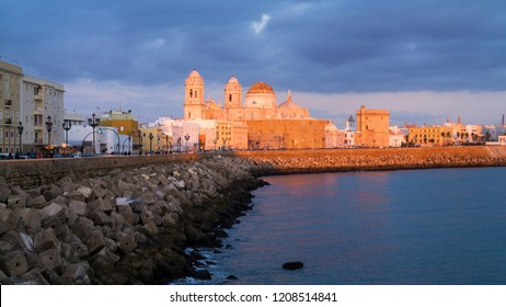 Cadiz Skyline and Cathedral Andalucia Spain