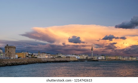 Cadiz Skyline Under Cumulonimbus