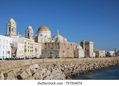 CADIZ, SPAIN: The Cathedral of Cadiz,  Andalucia region, Spain is a Roman Catholic church and was built between 1722 and 1838