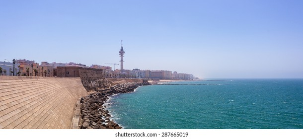 CADIZ , SPAIN.- July 7, 2014 : Cadiz one of the oldest cities in Western Europe and with archaeological remains dating back 3100 years.