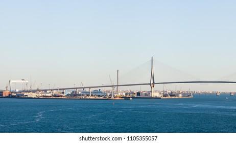 CADIZ, SPAIN - NOVEMBER 08:  The Constitution of 1812 Bridge in the Spanish city of Cadiz is pictured on November 08, 2016.  The bridge is also known as La Pepa Bridge.