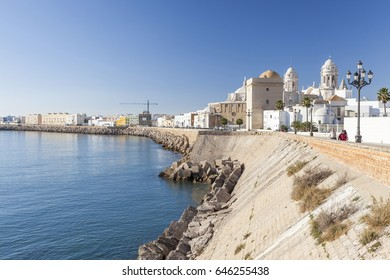 CADIZ,SPAIN-NOVEMBER 14,2016: City general view and sea,Cadiz,Andalucia.