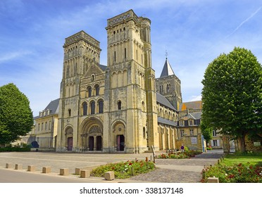 CAEN, FRANCE - JUNE 28, 2015: The Abbey Church of Sainte-Trinite (the Holy Trinity).  The Abbey of Sainte-Trinite, also known as Abbaye aux Dames, is a former monastery of women in Caen, Normandy