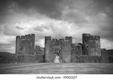 Caerphilly castle ,Wales