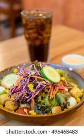 Caesar Salad On The Table