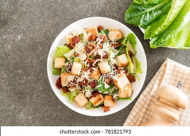 caesar salad on table - Healthy food style