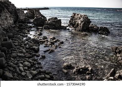 Caesarea Maritima - Caesarea's ancient city beach ruins