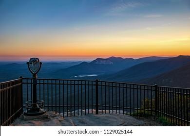 Caesars Head Overlook at Sunset near Greenville South Carolina SC