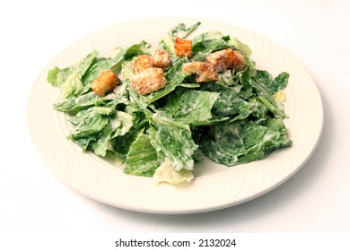 caesar's salad with dressing