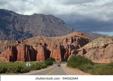 Cafayate, Salta, Province of Argentina. Quebrada de las conchas, route 68. North of Argentina