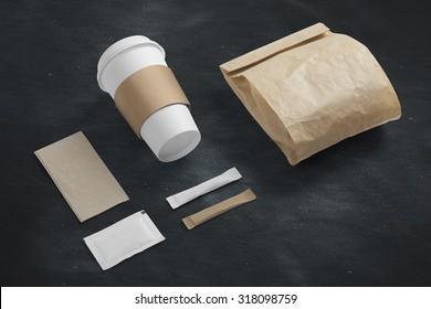 Cafe branding mock up