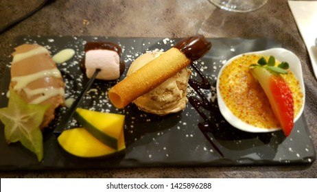 Cafe gourmand at a french restaurant