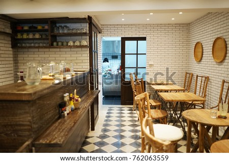 Charmant Cafe Interior Design Concept