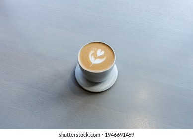 Cafe latte on the table