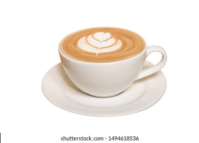Cafe Latte in White Background