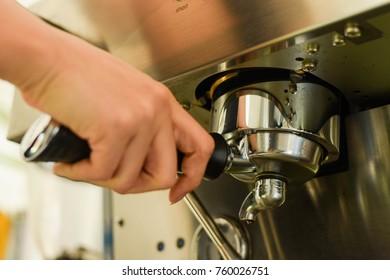 Cafe Making Coffee Preparation Service Concept,no focus