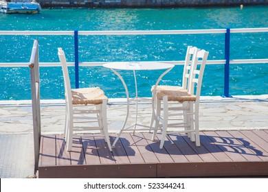 Cafe on Crete, Greece