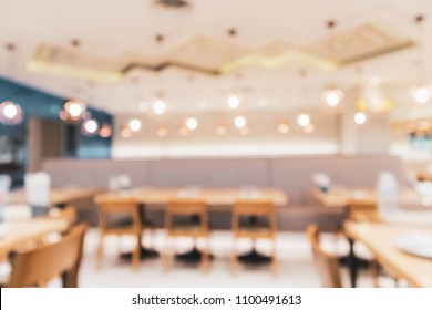 cafe restaurant interior with bokeh light abstract defocused blur background for create montage product display template
