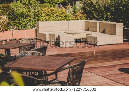 Cafe Restaurant Outdoor Patio Space Exterior Stock Photo Edit Now