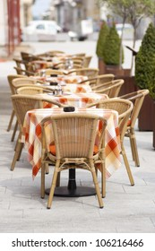 Cafe Terrace on a sunny day in summer