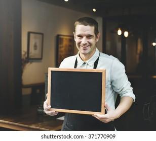 Cafeteria Coffee Restaurant Waiter Apron Barista Concept