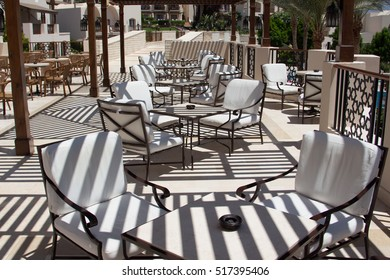 Cafeteria, Outdoor Cafe Tables and Chairs, Outdoor Restaurant Coffee Open Air Cafe,  Chairs with Tables, Summer Vacation on Tropical luxury Resort, Coffee Terrace, luxury Restaurant, luxury lifestyle