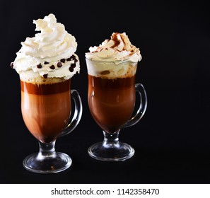 caffe mocha with whipped cream