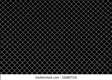 the cage metal net on black background