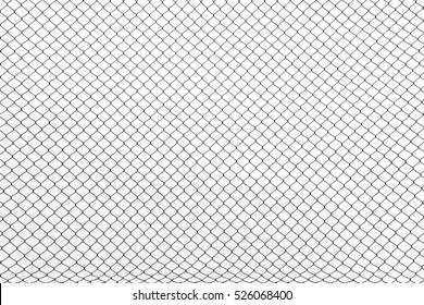 the cage metal net on white background