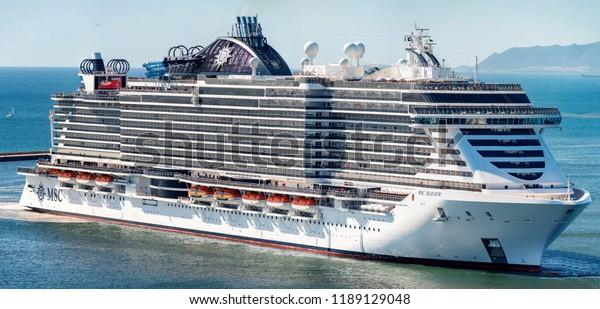Cagliari Italy 26092018 Msc Seaview Cruise Stock Photo ...