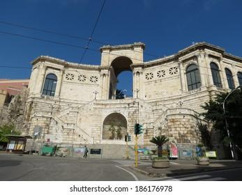 CAGLIARI, ITALY - CIRCA SEPTEMBER 2013: Bastione di San Remo, southern or sea gate of the old town