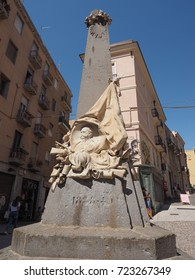 CAGLIARI, ITALY - CIRCA SEPTEMBER 2017: Monumento ai caduti delle guerre di indipendenza (meaning Memorial to the dead of the War of Independence)