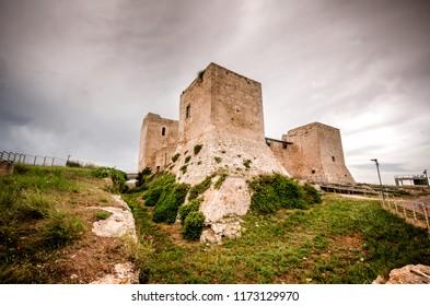 CAGLIARI, ITALY - JUN 6: On June 6, Medieval Cagliari Castle of San Michele, on Jun 6, 2018 in Sardinia, Italy.