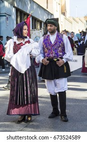 CAGLIARI, ITALY - MAY 1, 2015: 359 Religious procession of Sant'Efisio - parade in Sardinian traditional costume - Sardinia
