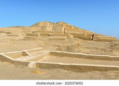 Cahuachi, the main ceremonial center of Nazca culture, Peru