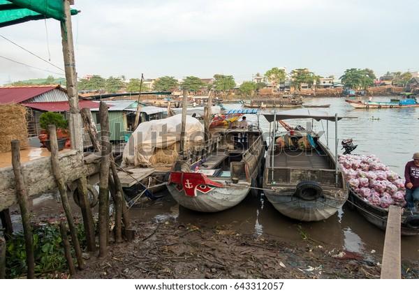 Cai Rang Floating Market Mekong River Stock Photo (Edit Now