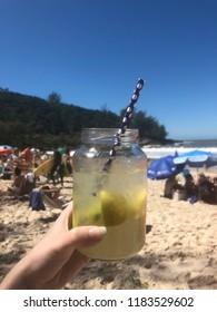 Caipirinha in Itapema beach, Brazil.