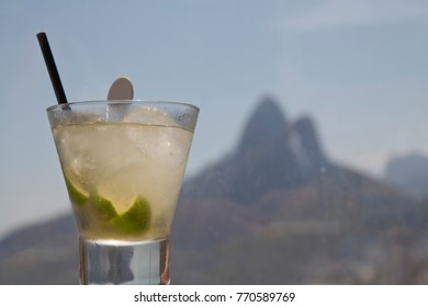 Caipirinha wit Sugarloaf Rock in the Background