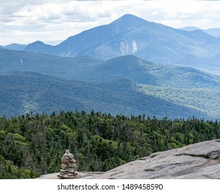 Cairn along trail in Adirondack Mountains