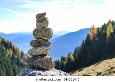 cairn in the alps