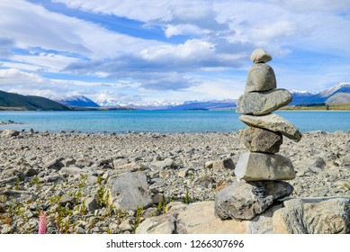 Cairn at Lake Tekapo