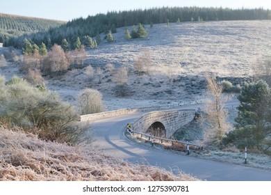 Cairn Mount mountain pass Spittal Burn bridge in Aberdeenshire near Fettercairn among the Grampian hills an ancient military route