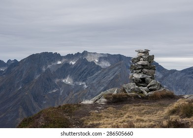 The cairn of the mountain Saksa