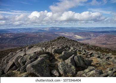 Cairngorm Mountains. View from Mount Keen, Angus, Aberdeenshire, Scotland, UK.