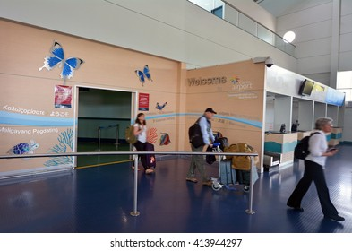 CAIRNS, AUS - APR 14 2016:Passengers arrive in Cairns Airport Queensland Australia. In the 12 months ending 30 June 2013 Cairns Airport had 4.1 million passengers, up 263,532 from the previous year.