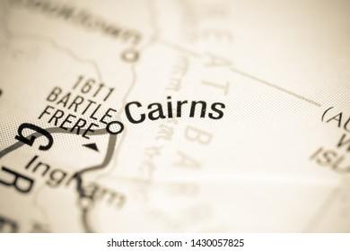 Cairns. Australia on a map