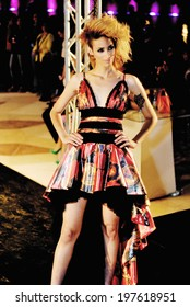 CAIRO - April 25: Model at Cairo Fashion Festival fashion show for the fashion designer Gelan El Hommosani in Cairo, Egypt, April 25, 2014.