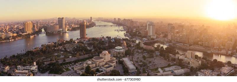 CAIRO - DECEMBER 29 : View from Cairo Tower in the evening Dec.29,2016 in Cairo, Egypt.